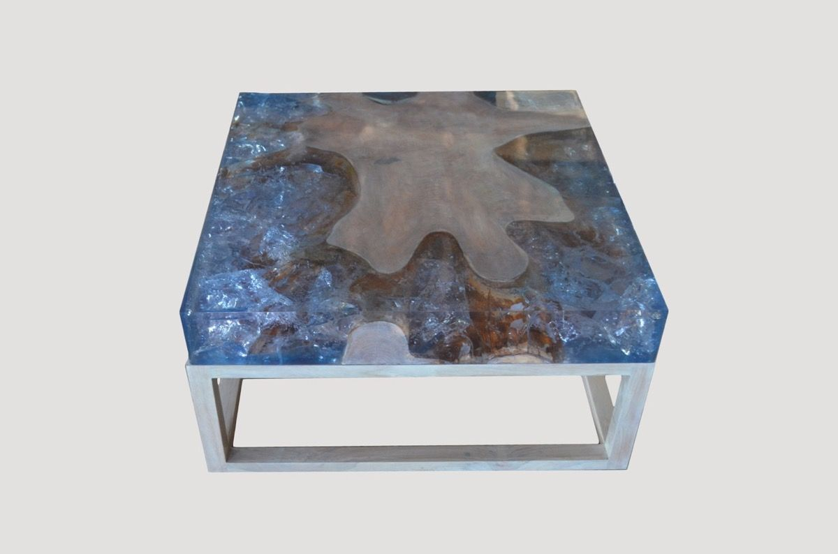 Superior Cracked Resin Coffee Table