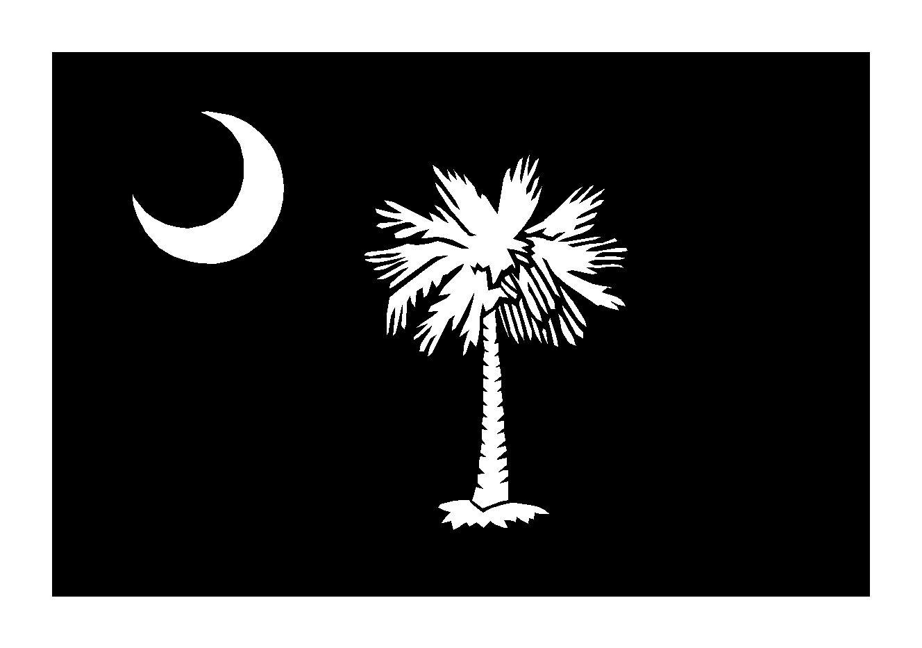 Sc Flag Tattoos: Black And White Image Of Tree