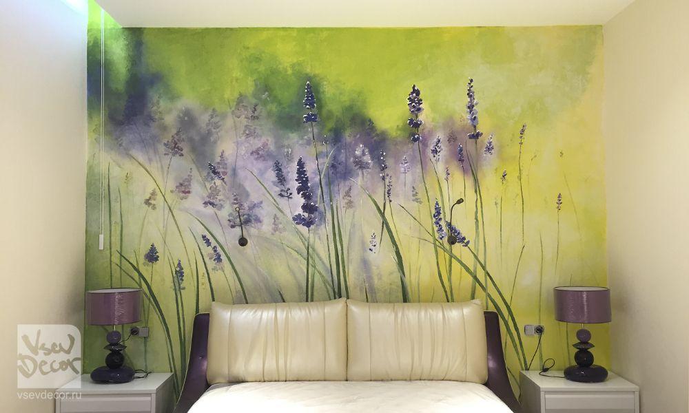 Цветы на стене фото | Фрески, Искусство