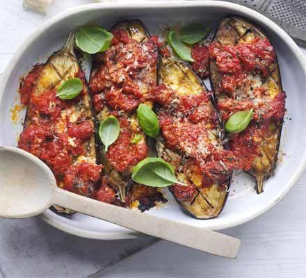Italian baked aubergines recipe recipes bbc good food healthy italian baked aubergines recipe recipes bbc good food forumfinder Gallery