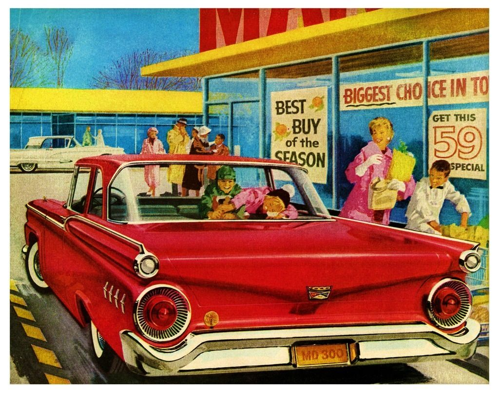 59 Ford Convertible Ad
