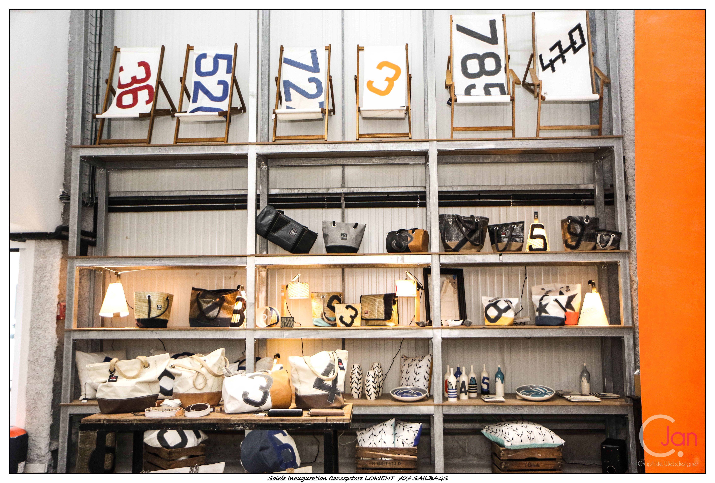 décoration concept store 727 => les transats en voile de bateau