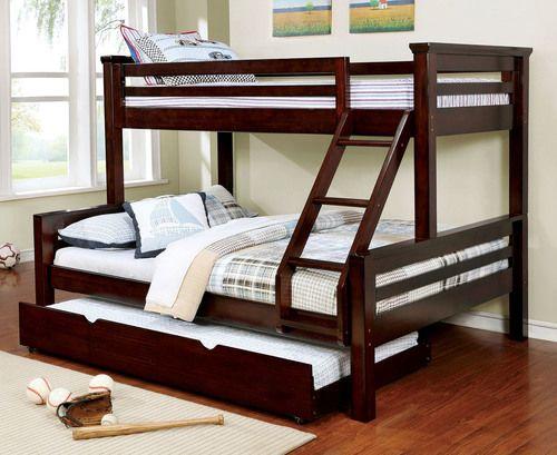 Mia Xl Twin Over Queen Bunk Bed In Dark Walnut Queen Bunk Beds