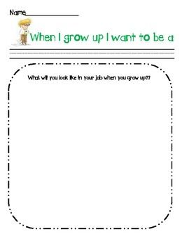 When I Grow Up Careers Coloring Sheet Elementary Counseling