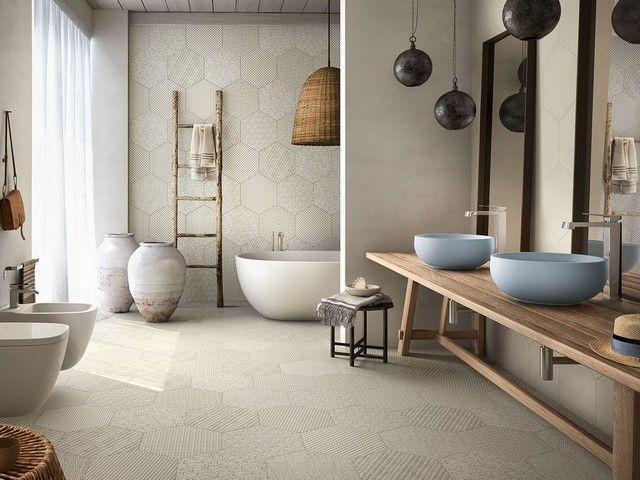 Piastrelle Esagonali Gres : Pavimento esagonale in gres porcellanato bee iperceramica