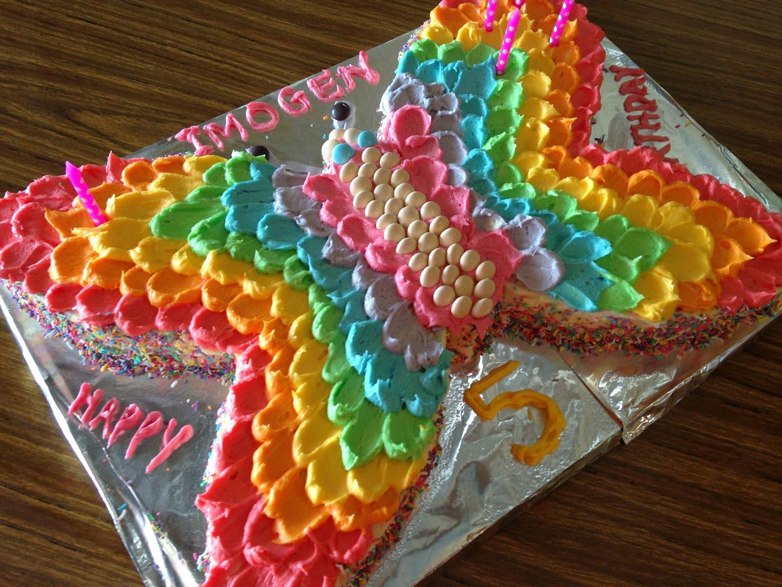 A Rainbow Butterfly Party Butterfly Birthday Cakes Butterfly