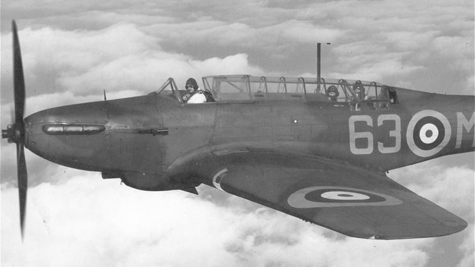 Daytime disaster The Fairey Battle was a 1930s-era daylight bomber; by the time it saw service against the Germans in 1940, it was hopelessly outclassed. Nearly 100 were shot down in a week. (RAF)
