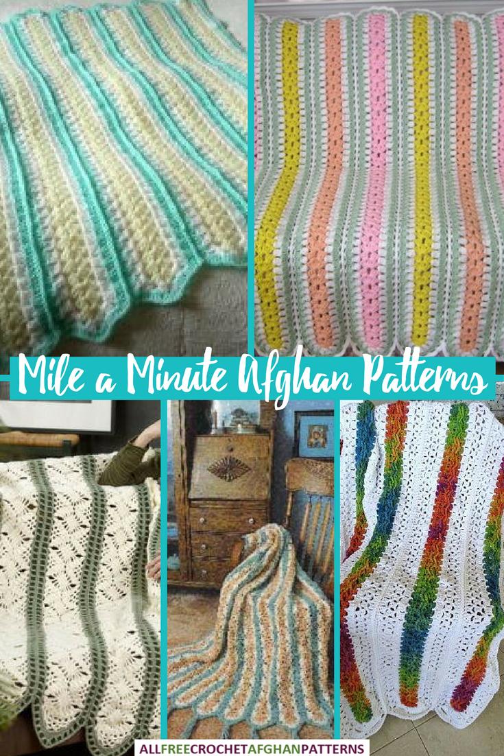 Mile A Minute Afghans Mileaminute Allfreecrochetafghanpatterns