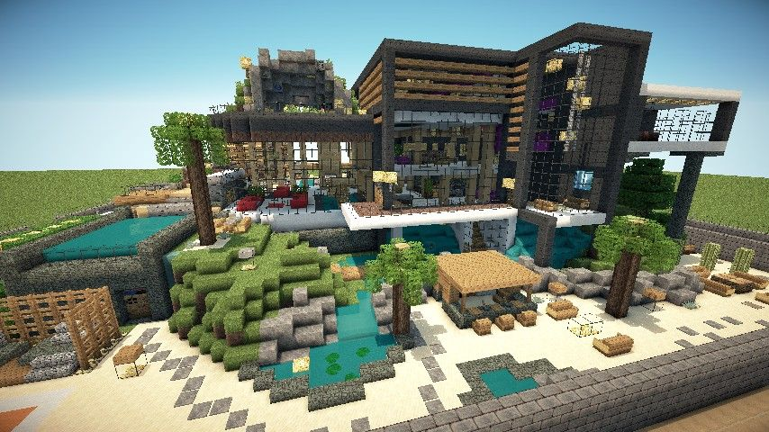 Modern house series 2 minecraft project