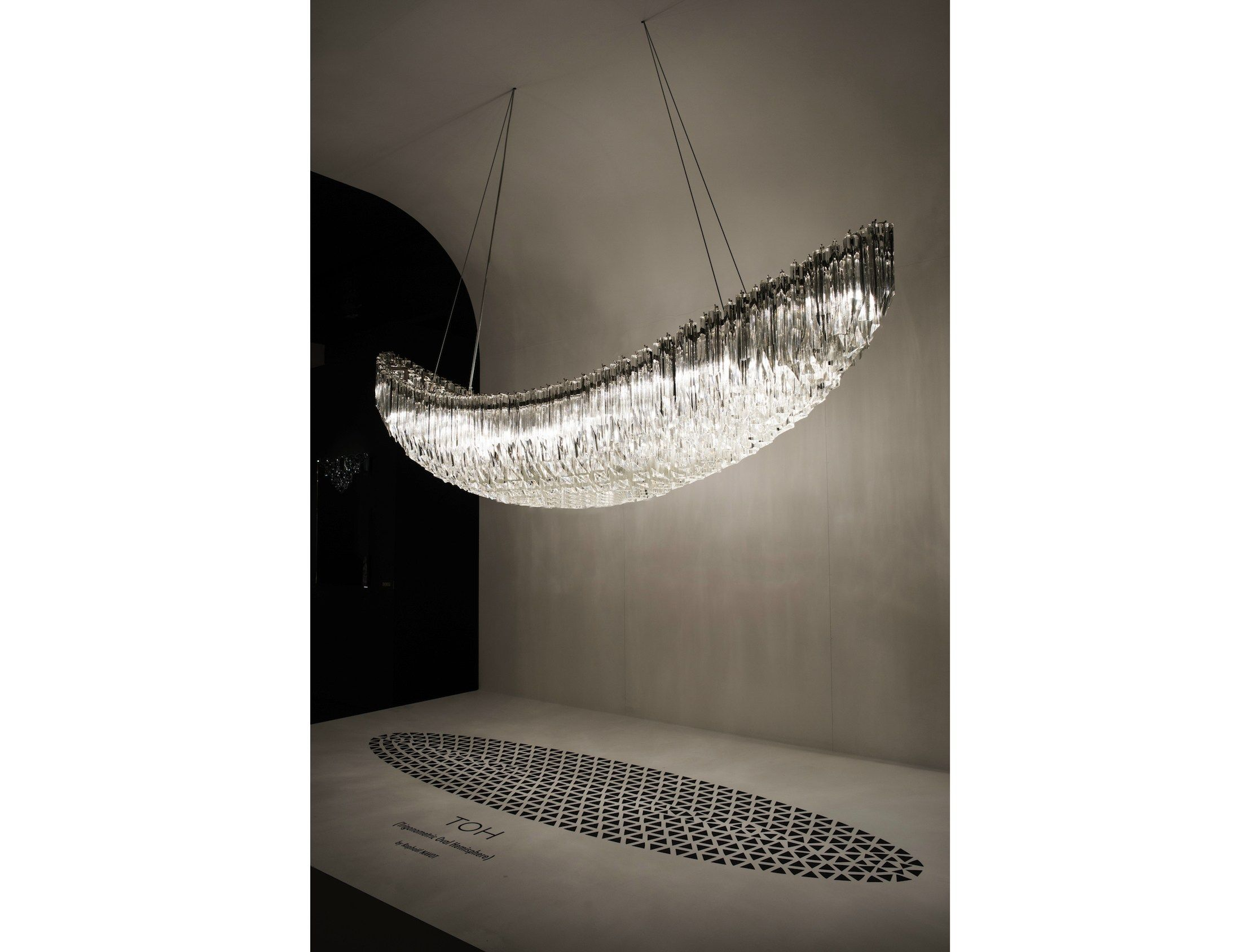 Murano glass pendant lamp TOH by Veronese