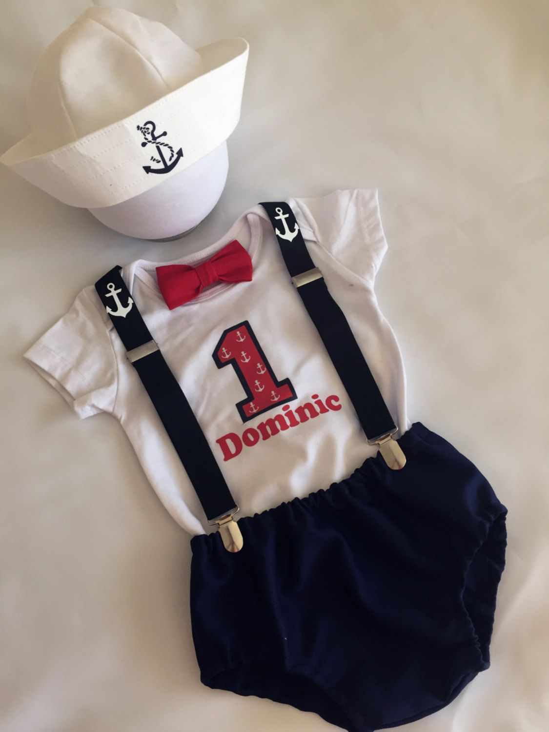 83977aa62 Personalised Sailor ...Baby boy 1st Birthday Outfit...1st Birthday dress  up...Cake Smash Outfit...Baby photo shoot outfit... by BuBBlingBoutique on  Etsy