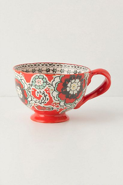 Anthropologie mug.  $14.oo stephen got me one for my bday, I would like a few more...they're so cute and the red one matches my kitch.