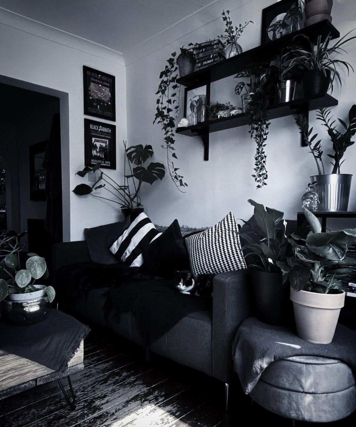 Pin By Rebecca On Future Home Dark Home Decor Home Decor Bedroom Gothic Living Rooms Living room aesthetic dark