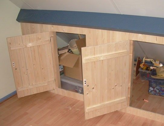 Top Plaatsing knieschotten   Zolder in 2019 - Attic loft, Attic closet MA26