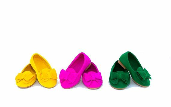 057bc4b6ffc Yellow, Pink, & Green Toddler Girls Kids Big Bow Loafers Dress Shoes ...