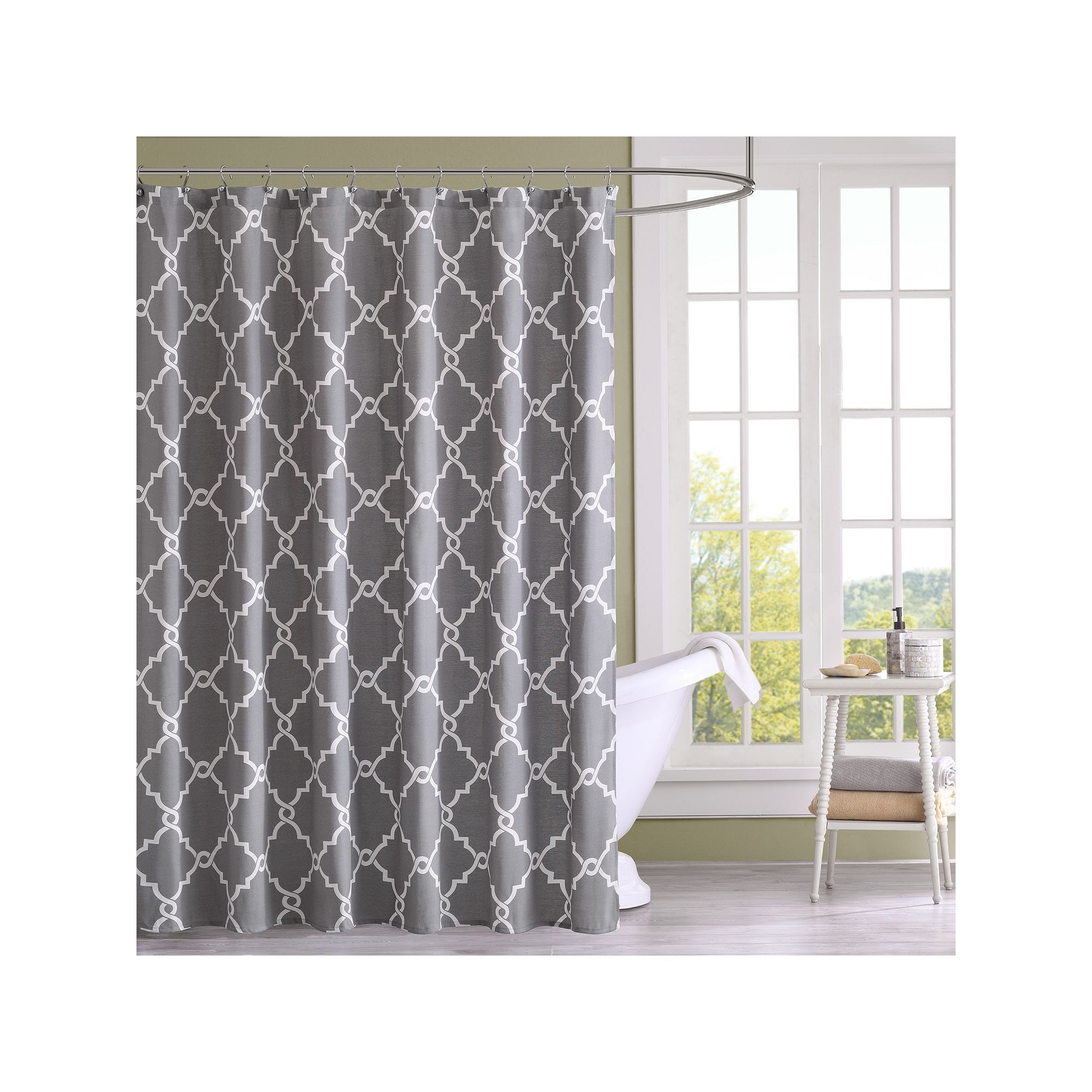 Madison park westmont shower curtain grey products