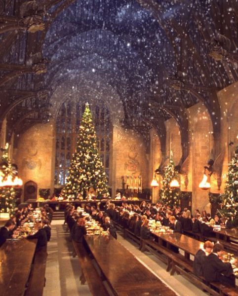 You Can Have A Candelit Christmas Dinner At Hogwarts This Year Hogwarts Christmas Harry Potter Christmas Hogwarts