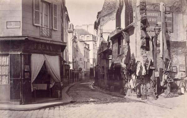 Photo by Charles Marville, Rue de Lourcine, bet 1865 and 1868.