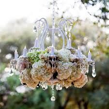 Image result for chandelier made from flowers