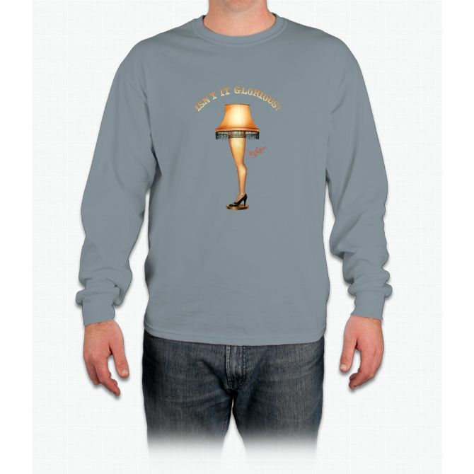 A Christmas Story Isnt It Glorious Leg Lamp Long Sleeve T-Shirt
