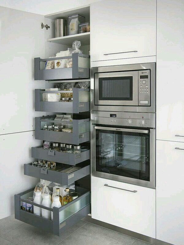 Drawers for a narrow pantry organizers Pinterest Cocinas