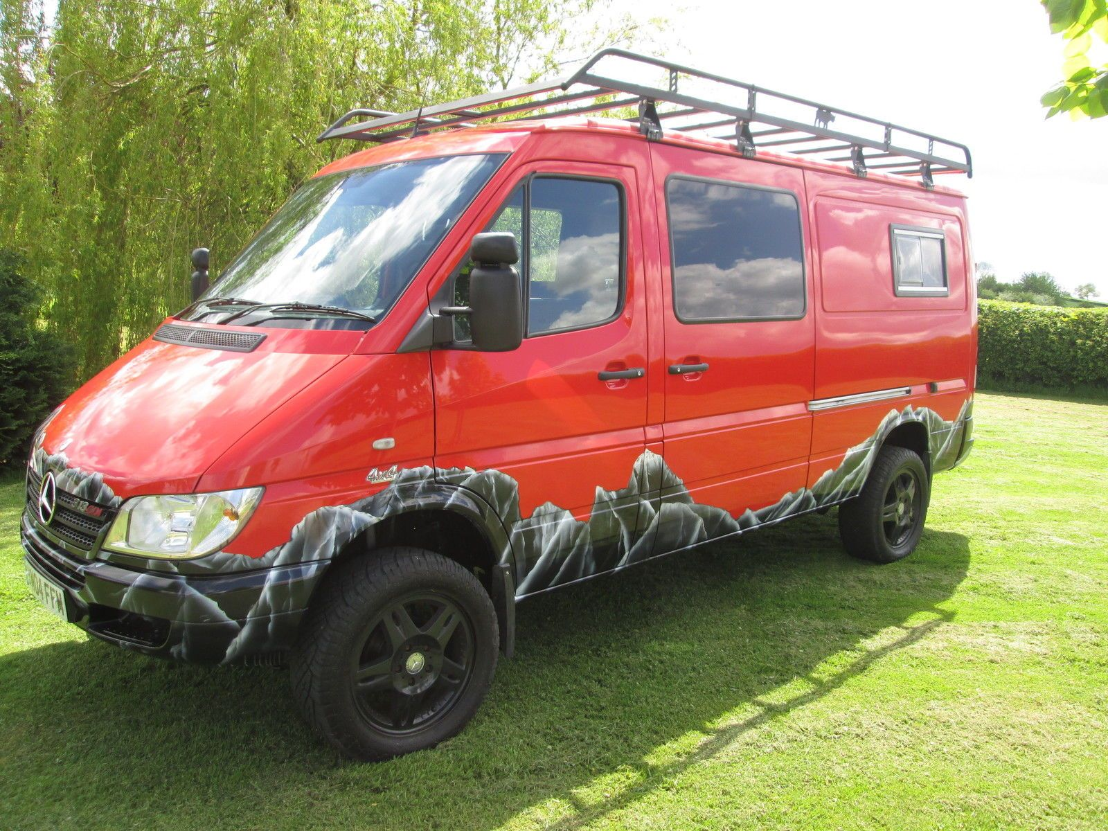 Mercedes sprinter 4x4 race camper van brand new for Mercedes benz van conversion