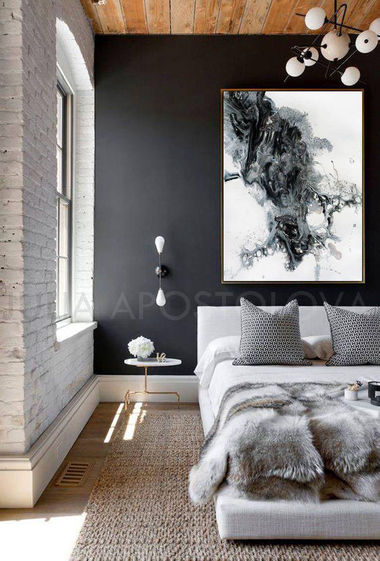 white black grey abstract painting large canvas art coastal wall white black grey abstract painting large canvas art coastal wall art watercolor abstract fluid print julia apostolova arctic land