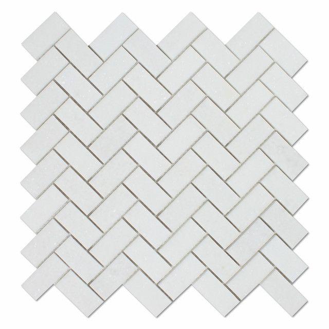 Thassos White Marble Polished 488 X 48 Herringbone Mosaic Tile Deko Awesome Tin Ceiling Tiles For Backsplash Exterior