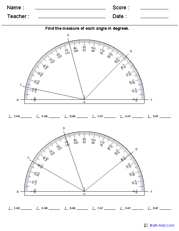 Printables Measuring Angles Worksheet 1000 images about protractors and angles on pinterest worksheets interactive notebooks