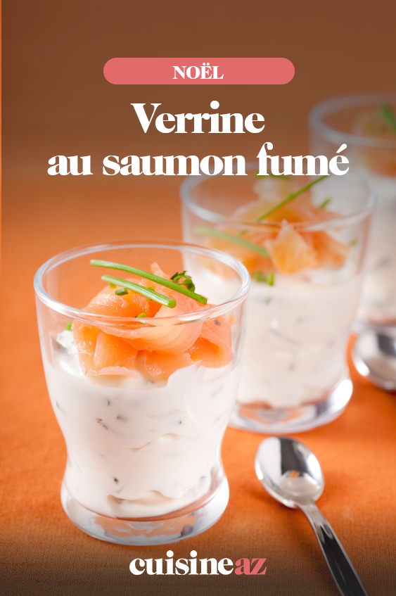 Verrine au saumon fumé