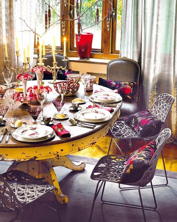 Pretty Bohemian Dining Room