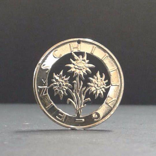 Coin Jewellery 1 Schilling Austria Edelweiss Muenzsaegerei