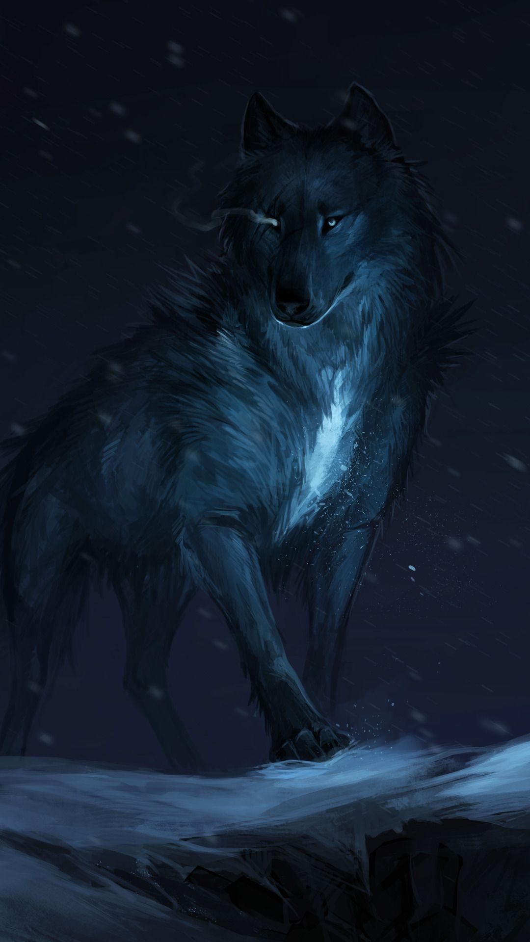 Wolf Drawing In 1080x1920 Resolution Wolf malen