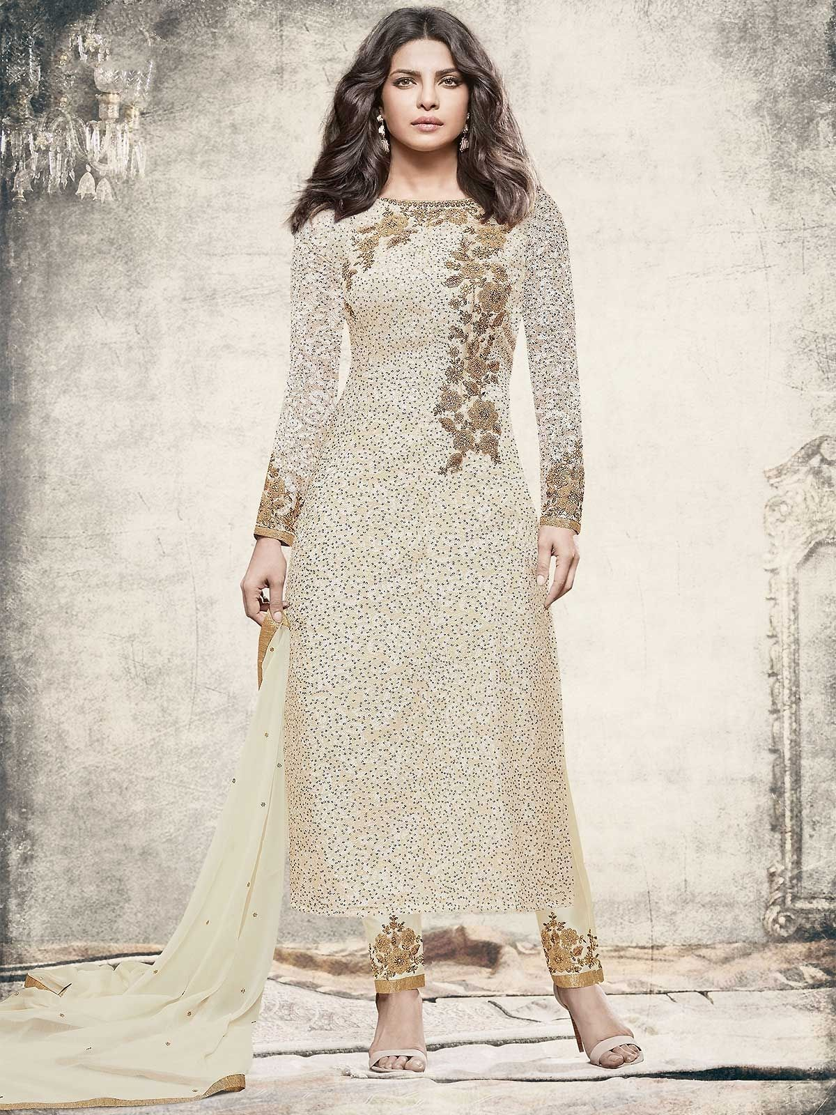 ac94008ef7a Buy readymade off white salwar suit