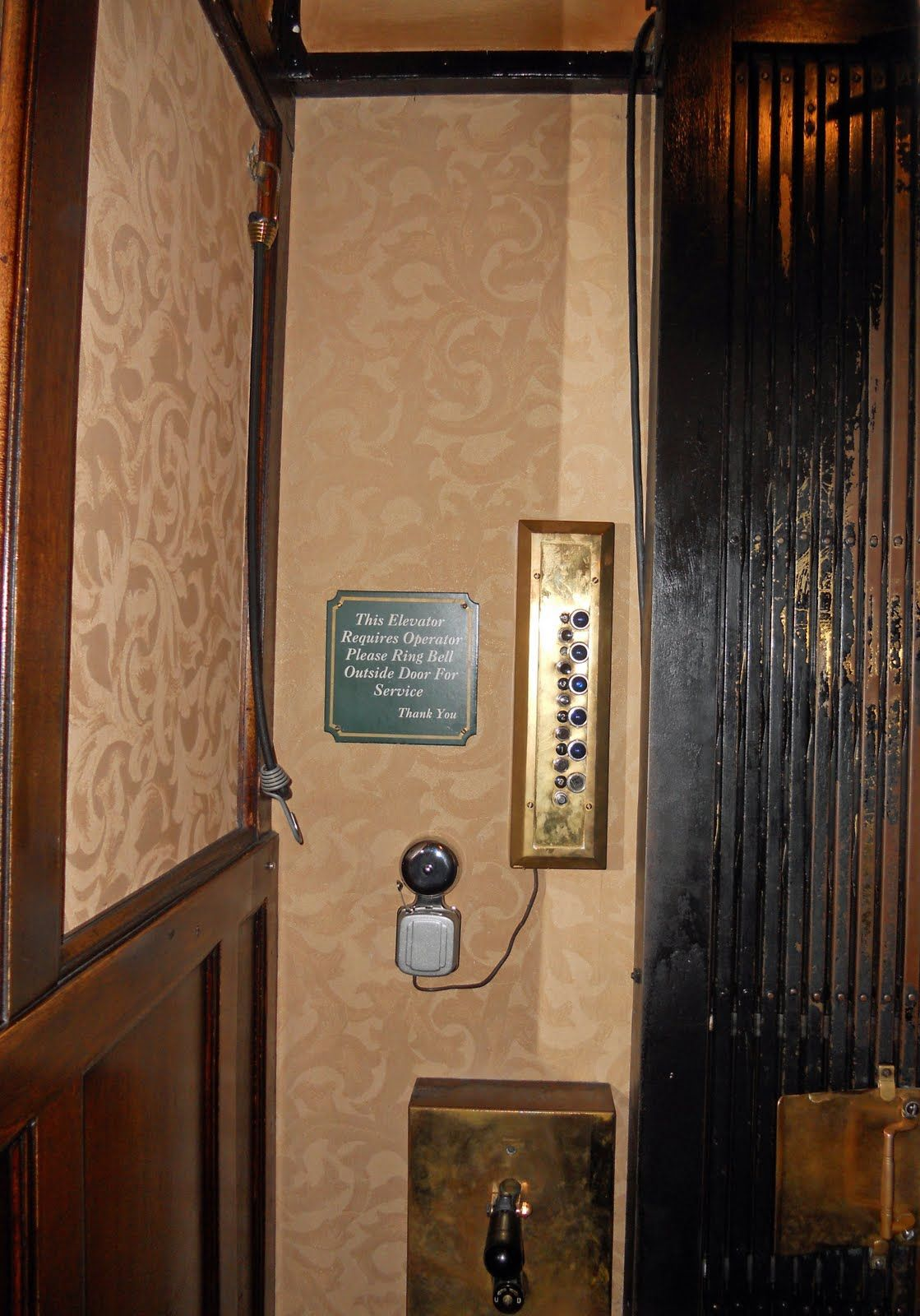 Day 222 ~ Inside Otis. Check out the view of our 1906 Otis elevator from  the inside!