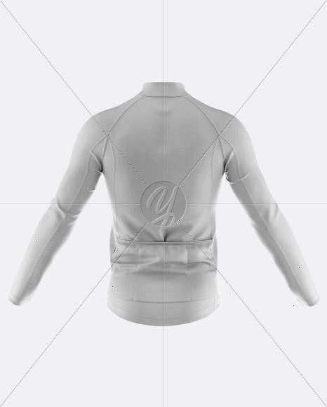 Mens FullZip Cycling Jersey With Long Sleeve Mockup  Back View Mens FullZip Cycling Jersey With Long Sleeve Mockup  Back View  Fashion Flats Body Templates Female 8 head...