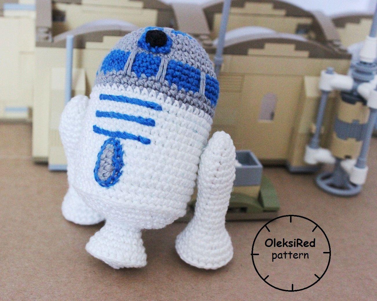 Crochet Pattern Droid R2d2 Amigurumi Pattern Gifts Pinterest