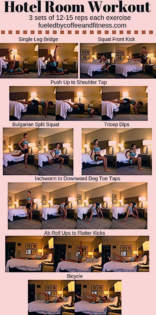 Hotelzimmer Workout - Betankt von Kaffee und Fitness. Sie können dieses schnelle Hotel ... -  Hotelz...