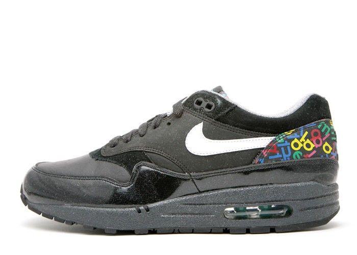 Nike Unisex's Running Shoes Air Max 1 Premium Black / White - Argon Blue - Anthrct