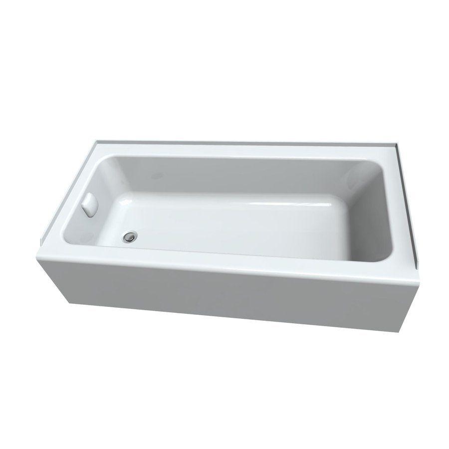 American Standard 1752112.02 Sonoma White Acrylic Rectangular Alcove ...