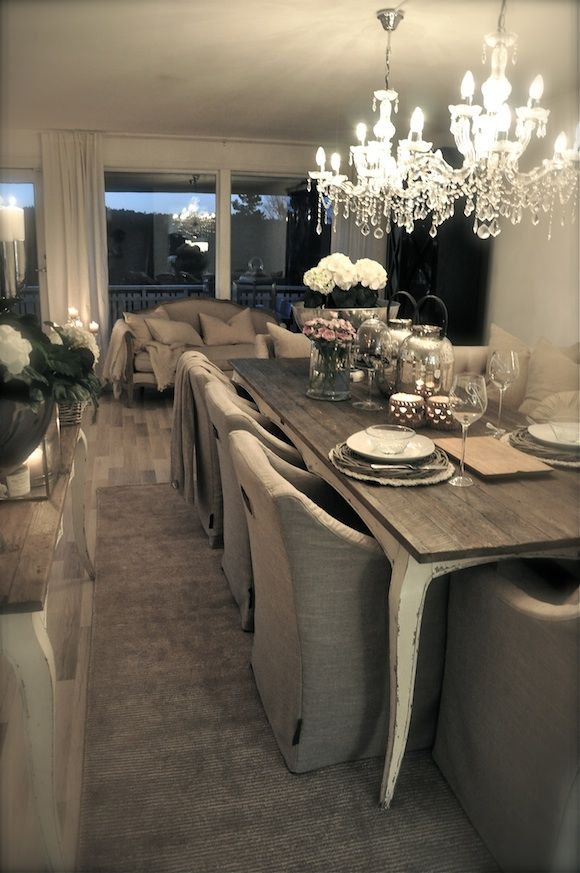 Romantic Dining Room: This Is Exactly What I Want For Dining Room..soo Country