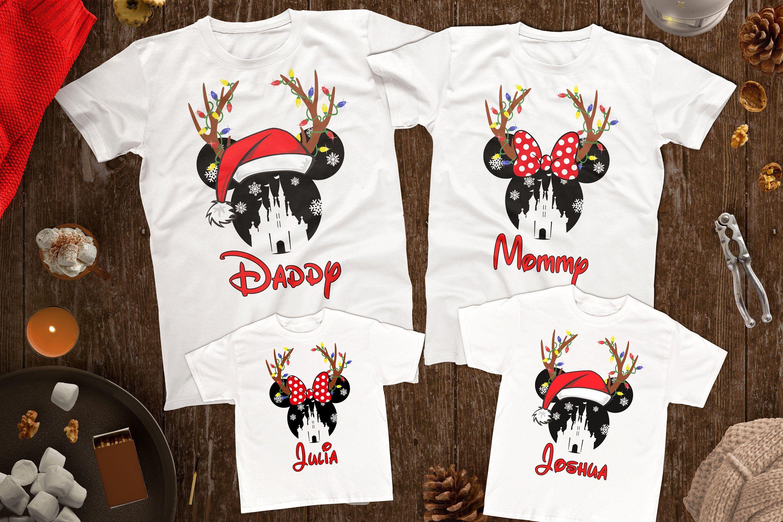 85bf72d5 Disney Christmas Family Shirts, Disney Christmas Matching Shirts, Reindeer  Disney Antlers Shirts, Matching Disney Shirts, Custom Disney Tees by ...