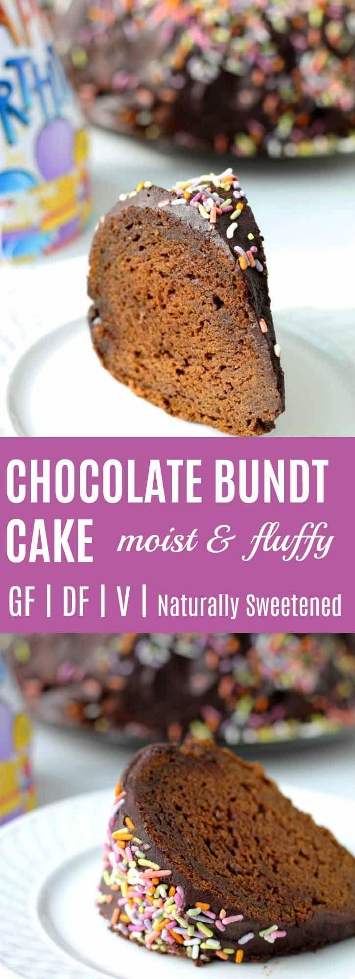 Moist chocolate bundt cake recipe vegan glutenfree