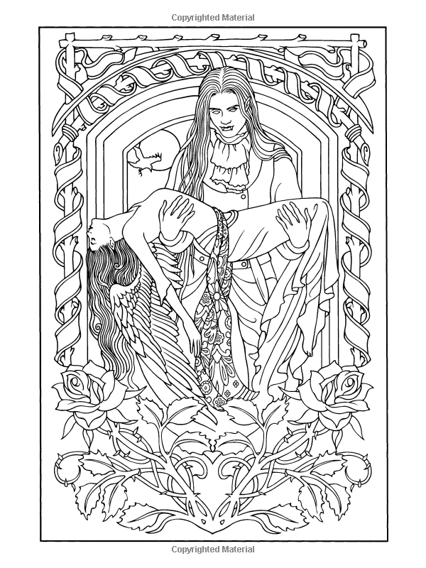 Vampires coloring book marty noble livres Coloring book for adults benefits