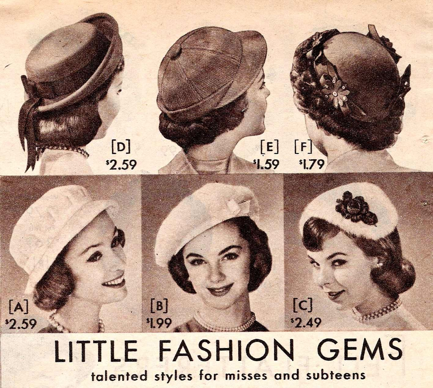 e25e9448 1957 Pillbox Hats. Learn and shop at VintageDancer.com/1950s. History of women's  1950s hats including popular hat styles: ...