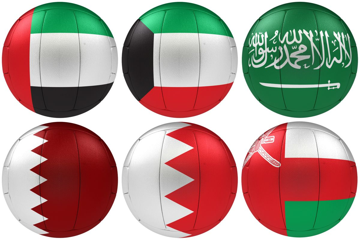 3d Rendered Volleyball Gcc Flags Paper Lamp Novelty Lamp Lamp