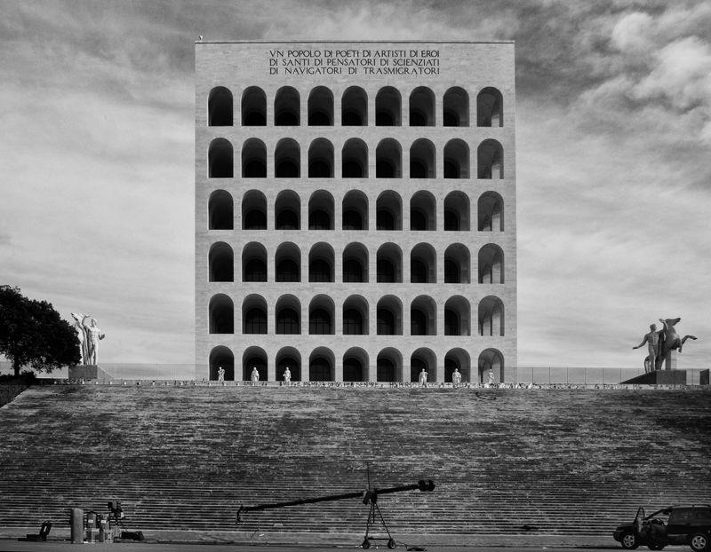 Palazzo della civilita, Rome. Fascist architecture