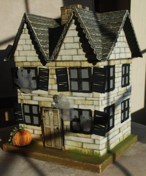 001 paper mache houses Paper mache haunted house Two Peas