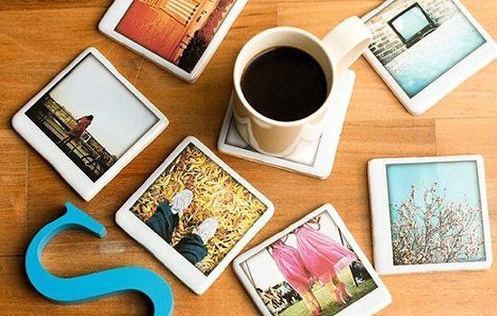 Polaroid coasters ...