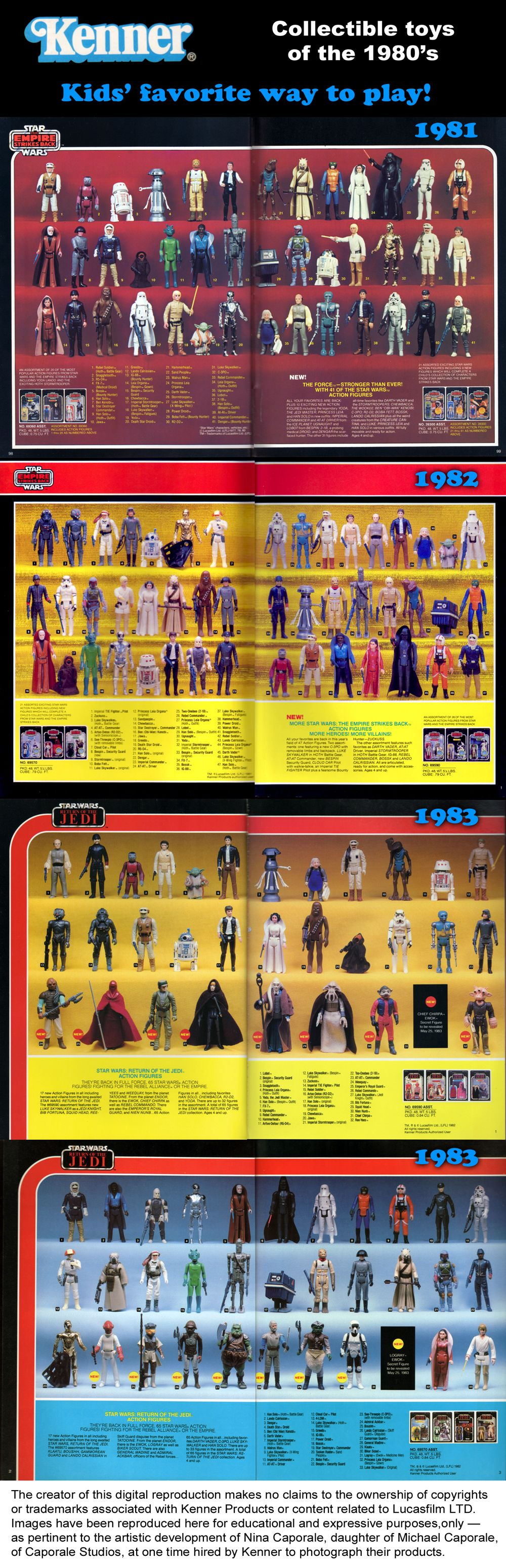 Kenner Star Wars Toys : Star wars action figures from to the